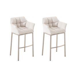 2er set barhocker damaso stoff mit 4 fu gestell. Black Bedroom Furniture Sets. Home Design Ideas