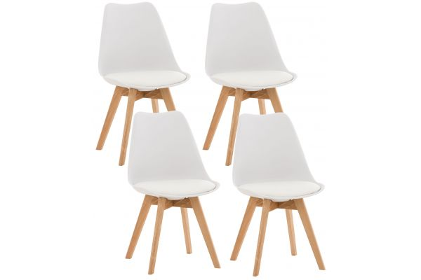 4er Set Stuhl Linares weiß