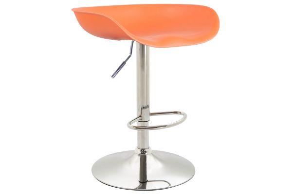 Barhocker Anaheim Kunststoff chrom orange