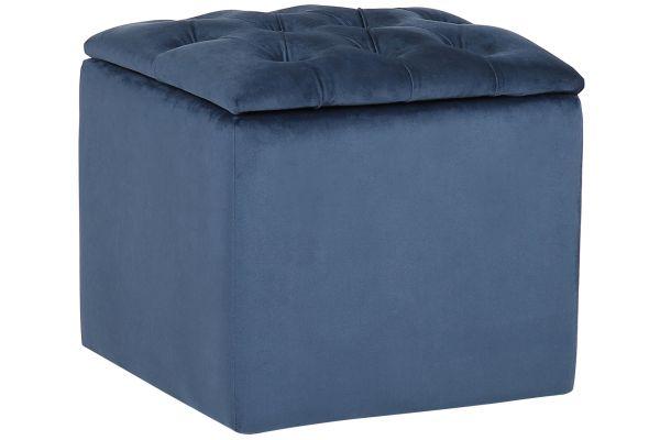Sitzhocker Eilat Samt blau