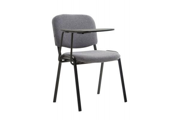 Stuhl Ken mit Klapptisch Stoff grau