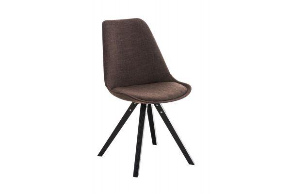 Stuhl Pegleg Stoff Square schwarz braun