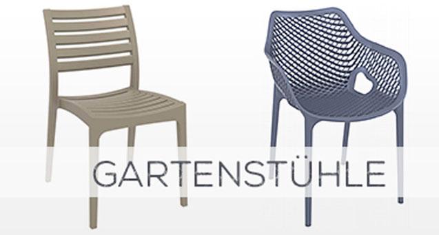 Gartenstühle, Kunststoffstühle, Stapelstühle